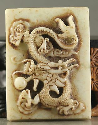 Old Chinese natural jade hand-carved statue of dragon pendant  NO.Y700