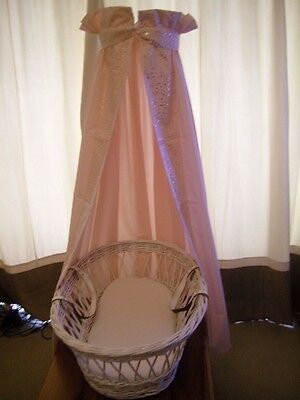 Clair-de-lune cot / cot-bed / moses-basket canopy / freestanding drape+rod only