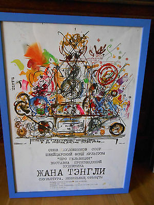 Ancienne affiche expo Jean Tinguely à Moscou 1990 (rare)