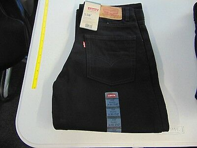 Boys Size 14 Levi's Black 550 Relaxed Fit Jeans Pants 27X27 New Nwt #143