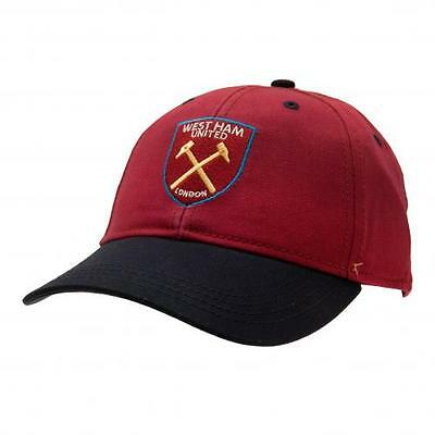 West Ham United Fc Embroidered Crest Adult Mens Adjustable Baseball Cap Whfc