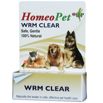 Homeopet Worm Clear Cat Fast acting Non Sedating Liquid Formula Natural 15ml