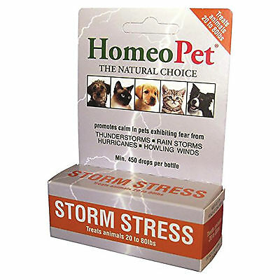Homeopet Storm Stress Dog 20lbs to 80lbs Fast Acting Liquid Natural Material