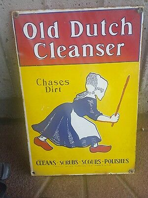 Vintage Porcelain Sign Old Dutch Cleanser