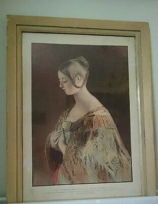 The Commencement of a Good Queen's Reign - after C.R. Leslie RA vintage print.