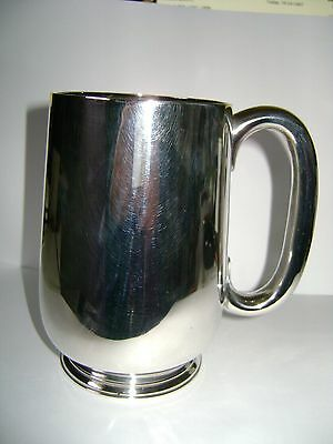 Antique Hallmarked 1 Pint Silver Tankard Charles Stuart Harris 1888 In Good Cond