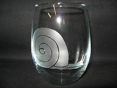 New Etched Snail Stemless Wine Glass Tumbler