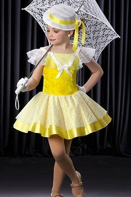Tea Party Dance Costume Southern Belle Tap Dress Tutu Clearance Child X-Small
