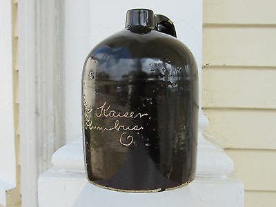 Advertising Scratch Stoneware Jug C-1890 Columbus, Ohio