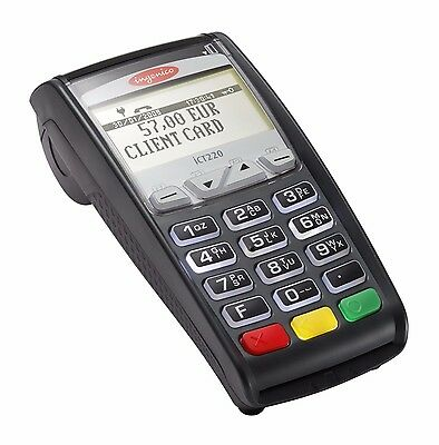 New in Box - Ingenico iCT220 POS IP/Dial Terminal w/ EMV Chip Reader