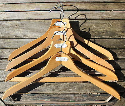 Vintage London Tailor's Lionel Bull Wooden Coat Hangers x 4