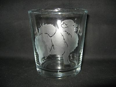 New Etched Pomeranian Old-Fashioned Rocks Glass Tumbler