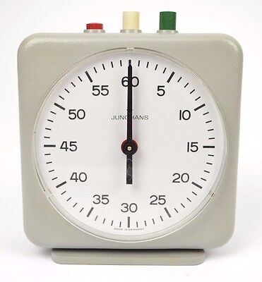 Junghans German Darkroom Photography Analog Timer Clock in Original Box