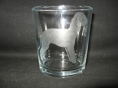 New Etched Bedlington Terrier Old-Fashioned Rocks Glass Tumbler