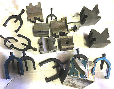 Brown Sharpe 749A 750-E Machinist V Block Clamp Switching Tool Mill Press Lathe