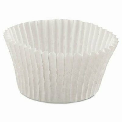 """Hoffmaster Fluted Bake Cups, 4 1/2"""" dia x 1 1/4""""h, Wht, 10000/Carton (HFM610032)"""
