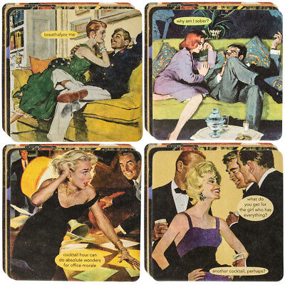 18pc Anne Taintor Drink Coasters Set Glasses Retro Funny Unique Quotes Photos