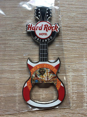 Hard Rock Hotel Orlando Flag Bottle Opener Magnet !! Awesome !!