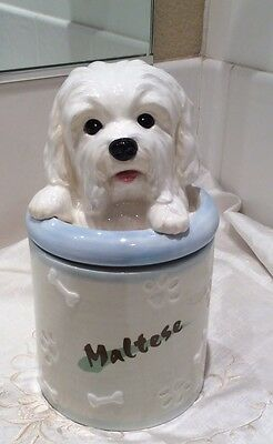 Maltese Dog Treat Jar - Only For This Breed!