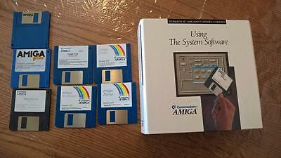 Commodore AMIGA Manual -Using The System Software- plus assorted disks as shown
