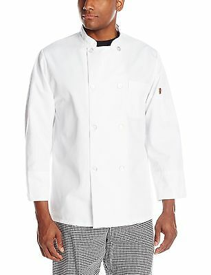 Chef Designs Men's Eight Pearl Button Chef Coat.  White.  Small