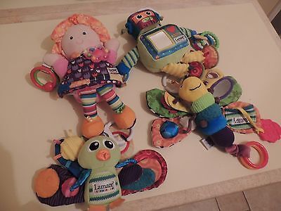 Lamaze Bundle of Baby toys Doll, Owl, Butterfly and Robot