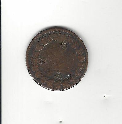16. An 1800's Republic Of France Medal / Coin Centimes = Struck Over Error