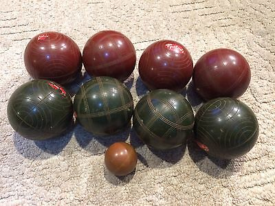Vintage Sportscraft Complete Bocce Ball Set Lawn Turf Games