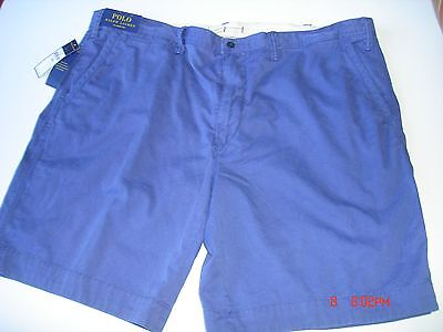 Ralph Lauren® Polo™ – SHORTS  – BLUE – Size 46 – FLAT Front  – CHINO – NEW