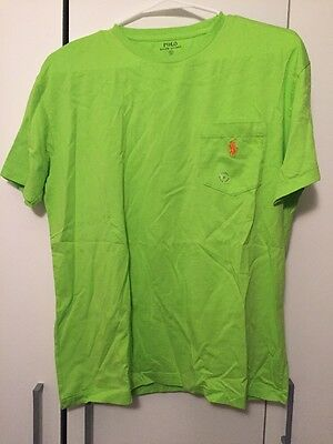 Polo Ralph Lauren Men's Green Short Sleeved Crew Neck Tee Small NWT