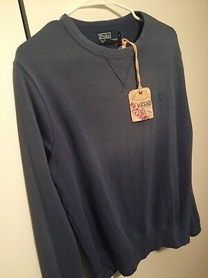 Polo Ralph Lauren Men's Blue Cotton Blend Sweater Size Medium NWT