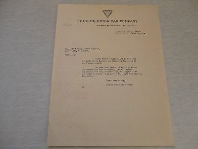 1918 Hudson Super Six - Hudson Motor Car Company - LETTERHEAD - Watermarked