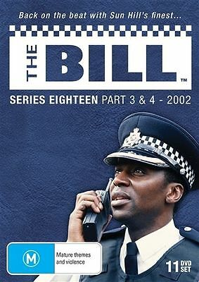The Bill - Series 18 - Part 3 & 4 (2002) - (11 Dvd Set) Brand New!!! Sealed!!!