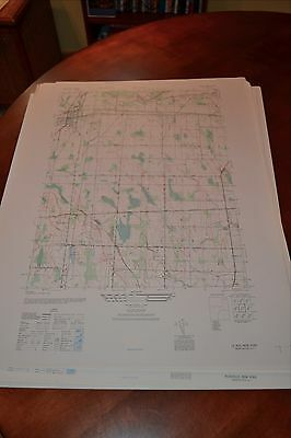 1940's Army topographic map Leroy New York -Sheet 5469 IV NW