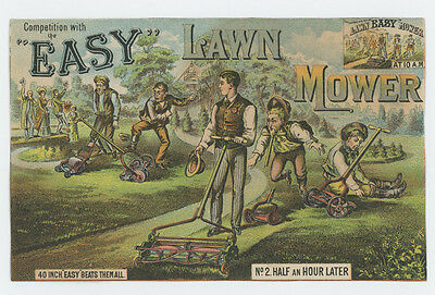 Easy Lawn Mower Springfield MA 1880's Trade Card