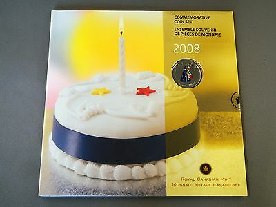 2008 Canada Commemorative Birthday Coin Set Party Hat Quarter