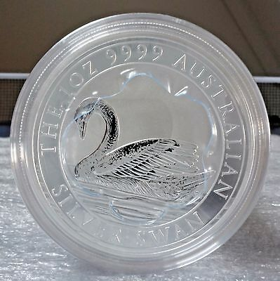 FIVE (5) 2017 Australia Swan 1 oz. 0.9999 Silver Coins FREE S/H ONLY $48/coin