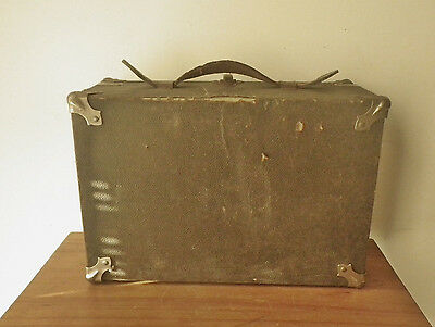 Small Suitcase Briefcase Antique Vintage Luggage Carrying case