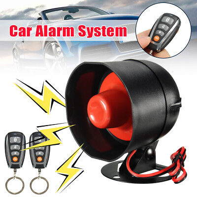 Car 2 Remote Keyless Entry Door Central Locking Kit Security System Alarm Siren