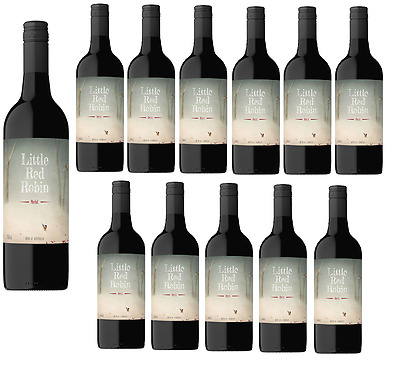 Little Red Robin Merlot SEA Red Wine (12x750ml) Free Shipping RRP$189