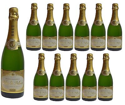12x Charles Armand Blanc de Blancs Brut- Methode Traditionnelle French Sparkling