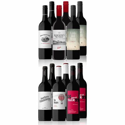 RRP$189 ! 2200+ SOLD ! AU Fav Red Mixed Wine Inc. Rawson's Retreat (12x750ml)