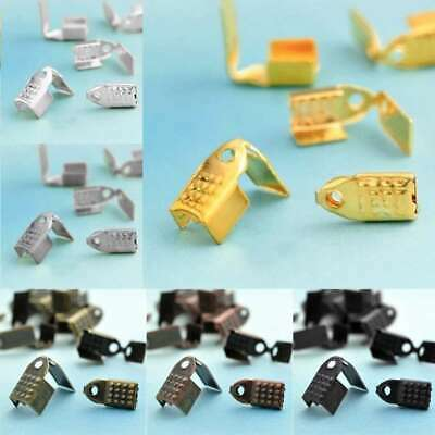 20g 60/100pcs End Cord Connector Tips Crimp Bead Cap Terminator Necklace Finding
