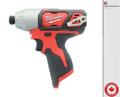 "New Milwaukee 2462-20 M12 1/4"" Hex Impact Driver - Bare Tool"