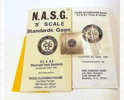 NASG S Parts: S Scale S-3 and S-4 Track and Wheel Standards Gauge