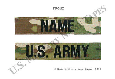 U.S. Army ACU OCP (Scorpion) Name Tape & Service Tape Set w/Hook Fastener