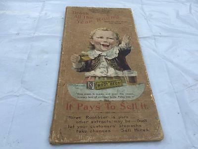 Antique 1892 HIRES ROOT BEER Advertising Checkerboard RARE