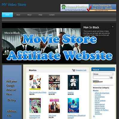 Automated Amazon Affiliate Movie Store Website Business For Sale Adsense