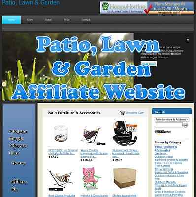 Automated Amazon Affiliate Patio, Lawn & Garden Website Business For Sale
