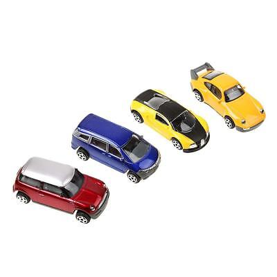 Set/4pcs 1:64 DIY Model Cars Parts Landscape Railways Scenes for Kids Gifts